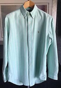 "Ralph Lauren Mens Oxford Weave Yarmouth 100% Cotton Smart Shirt 16""Brand New"