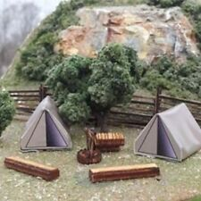 Osborn Models HO Model Trains - Tents x 2 Plus Accessories 1113