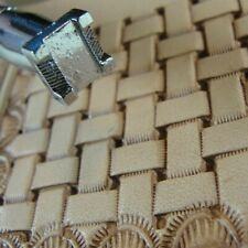 Leather Stamping Tool - #X517 Basket Weave Stamp Free Shipping!