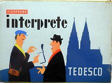 VISAPHONE INTERPRETE TEDESCO 1957 CORSO DI LINGUA