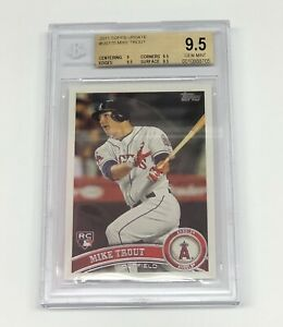 2011 Topps Update Mike Trout ROOKIE RC #US175 BGS 9.5 GEM MINT