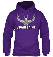 Vegan Gains Apparel - Gildan Hoodie Sweatshirt