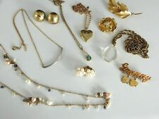 10 Vintage Now Lot Gold Filled Jewelry Not Scrap Necklace Bracelet Earrings