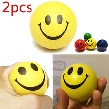 2Smiley Face Hot  Random Anti Stress Reliever Ball ADHD Autism Mood Toys Squeeze