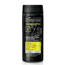 bielenda CARBONO Desintoxicación Micellar agua limpiador y Desmaquillador 200ml