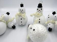 "Christmas Tree Ornaments Toys 7pcs. ""Snowmen"" made in Germany (GDR) Decor"