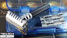 Pearl SBF-11B Twist To Open/Open Comb Double Edge Razor