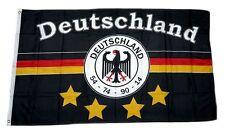 Flagge / Fahne Deutschland Fußball 4 Sterne Fan Hissflagge 90 x 150 cm