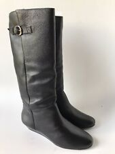 Steve Madden Intyce Women's Boots (Size 10) Black Leather Wedge Heel