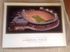 Poster NFL GREEN BAY PACKERS  First Kick FAVRE LAMBEAU FIELD PRINT NEW Lot Of 5!