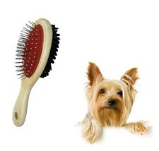 PET ANIMAL CAT DOG PUPPY RABBIT GROOMING BRUSH DOUBLE SIDED BRISTLE & PINS HT115