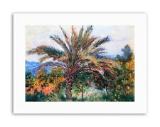 CLAUDE MONET PALM TREE AT BORDIGHERA Poster Painting Old Master Canvas art