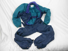 Men's One-Piece Snow/Ski Suit: COLUMBIA SPORTSWEAR, USA Medium, Navy/Dark Green