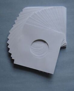 """7"""" WHITE PAPER RECORD SLEEVES - (pack of 100) superb quality!!!"""