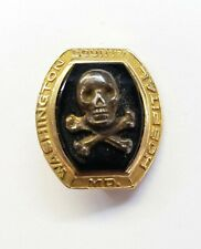 Vintage Washington County Md Hospital Nurse Skull Crossbones Pin 10K