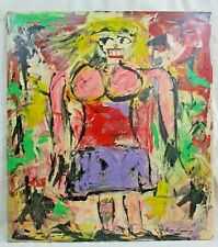 Willem de Kooning Signed Abstract Expressionist Figural Painting Good Condition
