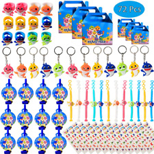 Shark Birthday Party Favors for Baby Supplies- Shark Bracelets, Rings, Key Chain