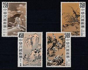 China Taiwan   599 - 602  Altchinesische Gemälde  **  (mnh)