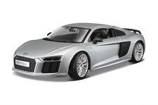 MAISTO 1:18 SPECIAL EDITION AUDI R8 V10 PLUS SILVER DIECAST CAR 36213