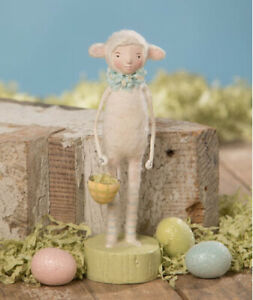 Bethany Lowe Easter Resin Figurine Lamb Dress Up Michelle Lauristen Spring Decor
