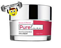 PURE LUXE Phytoceramide Eye Cream .50oz/Reduces Wrinkles & Fine Lines PureLuxe