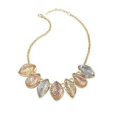 "ANTHOLOGY TRI-COLOR METALLIC QUARTZ 18"" BRONZE NECKLACE HSN $219.90 SOLD OUT!"