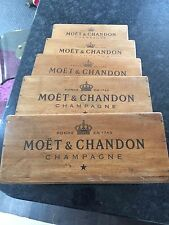 Set of 5 Moët And Chandon Champagne Antique Vintage Style  Wooden Boxes