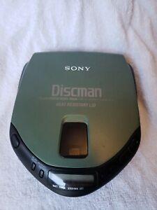 SONY Discman Portable CD Player D-171 Mega Bass AVLS Green Heat Resistant Lid