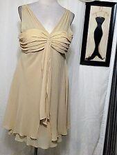BEIGE COCKTAIL  DRESS,  PLUS CRUISE WEDDING 18W