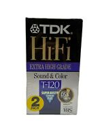 Sealed lot of 2 - TDK DSP 6 Hours Blank VHS Tapes T-120 - NEW