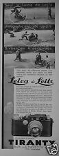 PUBLICITÉ 1934 TIRANTY LE LEICA DE LEITZ PHOTOGRAPHIE RAPIDEMENT - ADVERTISING