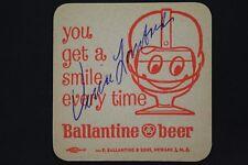 Vince Lombardi (d.1970) HOF Packers Coach Autograph Vintage Beer Coaster JSA LOA