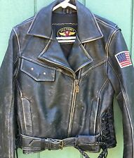 Vintage Victory Polaris Hein Gericke Harley Davidson Leather Biker Jacket  Small