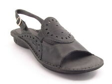 New HUSH PUPPIES Women Leather Slingback Low Wedge Heel Flat Sandal Shoe Sz 11 M
