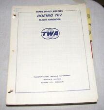 Aircraft, Flight Handbook/Operating Manual, TWA, Boeing 707, 1960's, Loose Leaf