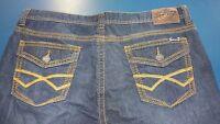 SEVEN 7 SEVEN7 Straight Leg Denim Jeans Distressed Dark Blue Wash Men's 40 x 32