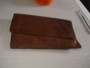 Vintage pigskin fly fishing cast wallet see pics