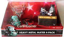 Disney Pixar Cars Toon heavy metal mater 4-pack 2010 mattel nuevo & OVP