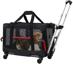 Pet Rolling Carrier Collapsible and Breathable Travel Rolling Carrier cats&dogs