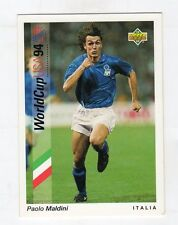 figurina card - CALCIATORI WORLD CUP 94 UPPER DECK  - N. 74 ITALIA MALDINI