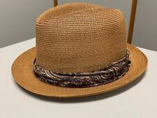 Vintage KNOX Hat Fedora Style Tan Hat by Bravo & McKeegan 7 1/8 w/ Paisley Band!