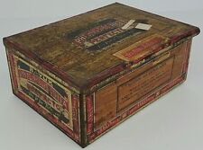 Vtg Bayuk Philadelphia Phillies Perfecto Tobacco Tin Cigar Box Distressed Empty