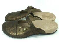Vionic by Orthaheel KRISTIN Women's Size 8 Bronze Orthotic Mules Slip On Slides
