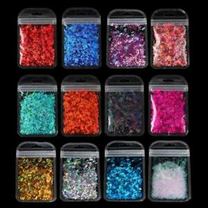 12 Colors Alphabet Holographic Letters Chunky Glitter Epoxy Resin Sequins 2g Per