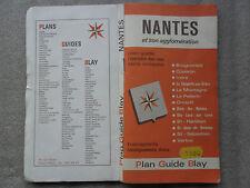 CARTE ROUTIERE NANTES ET AGGLOMERATION-1980-CARTE DE FRANCE-PLAN GUIDE BLAY-//