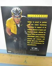 OAKLEY 2009 LANCE ARMSTRONG Cycling dealer promo display card New Old Stock