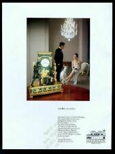 1986 Ibizan Hound and 1790s French clock photo Loyd-Paxton Dallas print ad