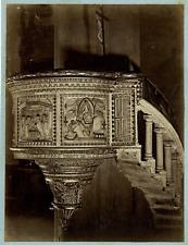 Vatican, un Chair albumen vintage print, Tirage albuminé  18x24  Circa 1