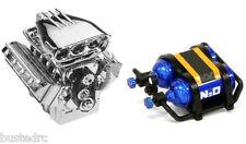 V8 Engine & NOS Combo, 1/10, SCX10, Traxxas, Axial, Tamiya, HPI, Crawler, Truck