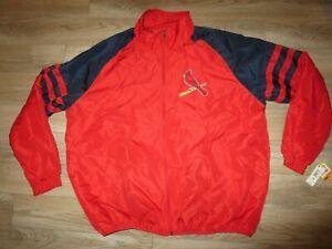 St. Louis Cardinal MLB Baseball Logo Jacket 2XL 2X Adult NEW NWT